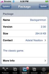 Backgammon Update 2.0