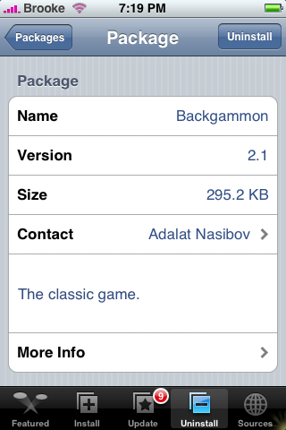 Backgammon Update 2.1
