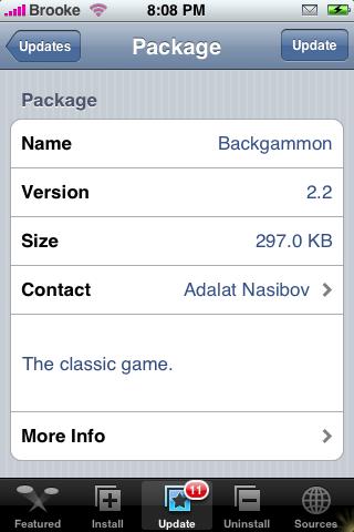 Backgammon Update 2.2