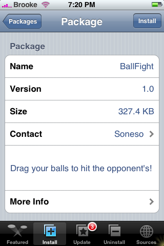 New App – BallFight 1.0