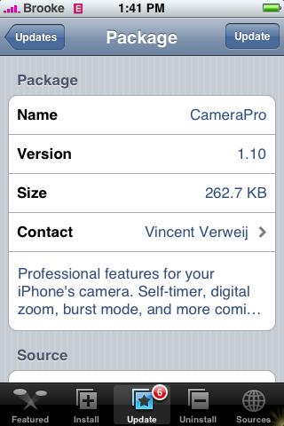 CameraPro Update 1.10