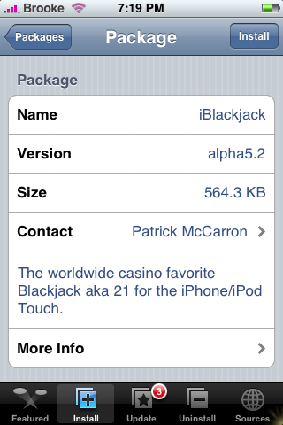 iBlackjack Update alpha5.2