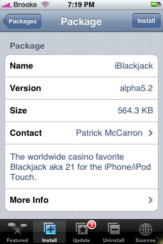 iBlackjack Update alpha5.2