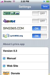 iLyrics ENG Update 0.3-1