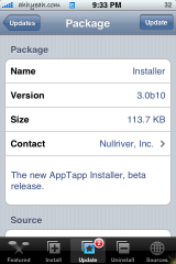 Installer Update 3.0b10