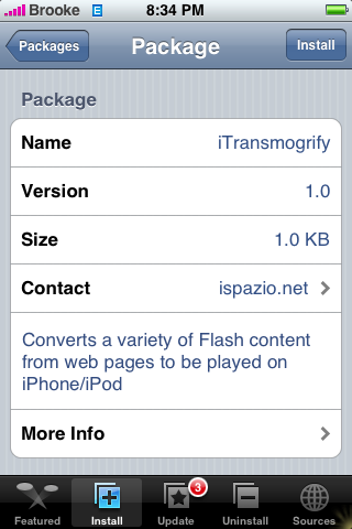 itransmogrify pour iphone