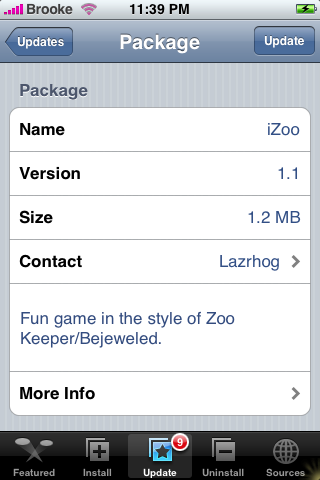 iZoo Update 1.1