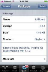 killBoard Update 1.0.1