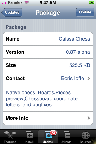 Caissa Chess 0.87-alpha