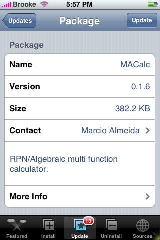 MACalc Update 0.1.6