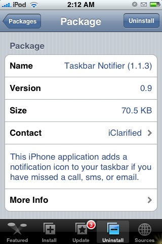 Taskbar Notifier - in installer