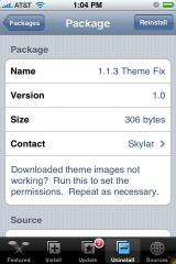 1.1.3 Theme Fix by iPod Touch Fans repo - Reinstall