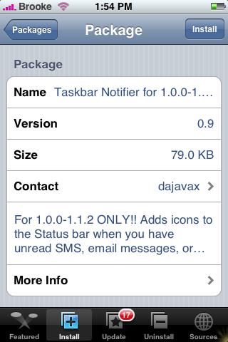 Taskbar Notifier for 1.0.0-1.1.2