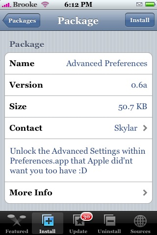 Advanced Preferences 0.6a