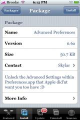 Advanced Preferences 0.6a