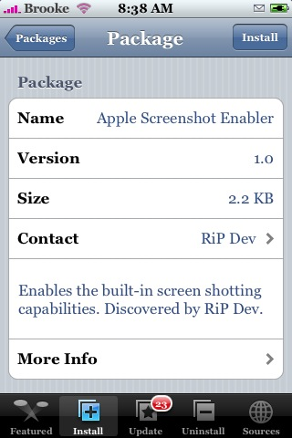Apple Screenshot Enabler 1.0