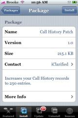 Call History Patch 1.0