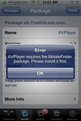 AVPlayer Error
