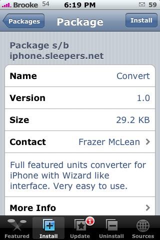 Convert 1.0