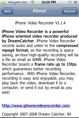 iPhone Video Recorder 1.1.6