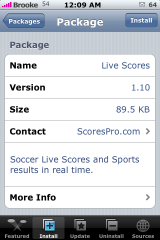 Live Scores 1.10