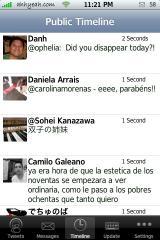 MobileTwitter 1.4 Public Timeline