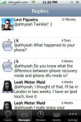 MobileTwitter 1.4 Replies