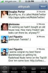 MobileTwitter 1.4 Timeline