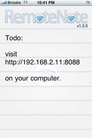 RemoteNote 1.0.0