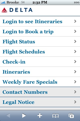 Delta is Now iPhone/iPod Touch Savvy