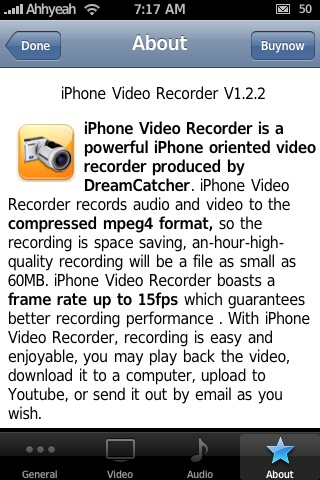 iPhone Video Recorder 1.2.2