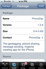 PhoneZap 1.2.9