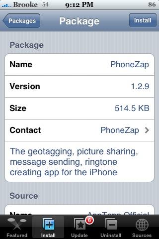 PhoneZap 1.2.9