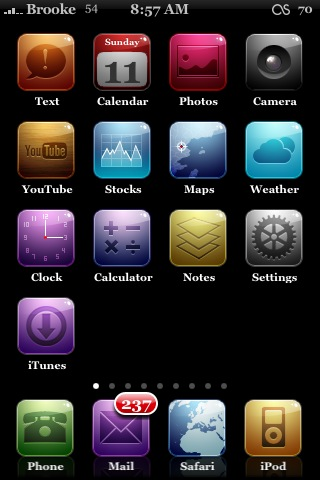 iPhone Theme – SpaceCamtessa