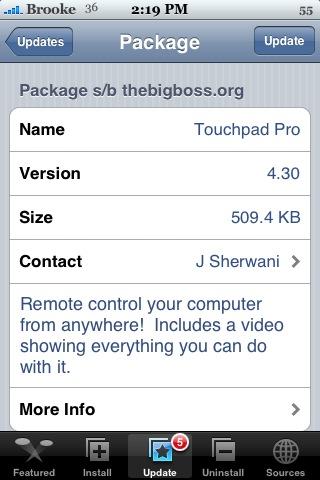 Touchpad Pro 4.30