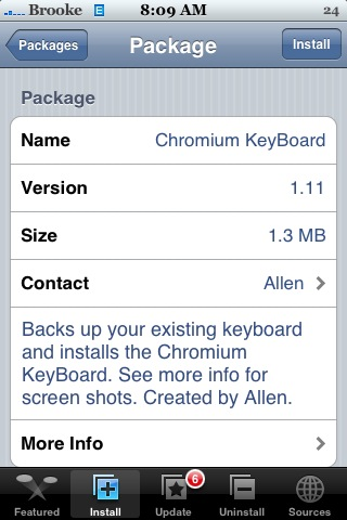 Chromium KeyBoard 1.1