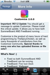 Customize 2.0.0RC1