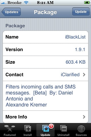 iBlackList 1.9.1 – Filter Incoming Calls and Texts