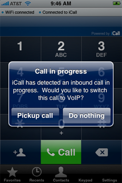 iCall VoIP on the iPhone