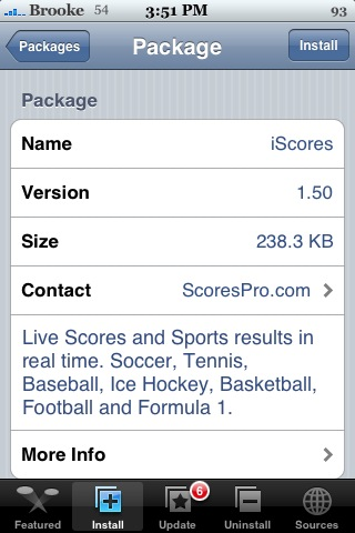 Live Scores – iScores 1.5