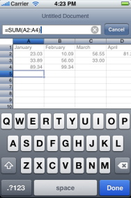 Edit Excel Files on the iPhone