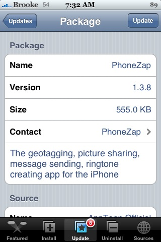 PhoneZap 1.3.8