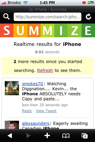 Summize – Twitter Search