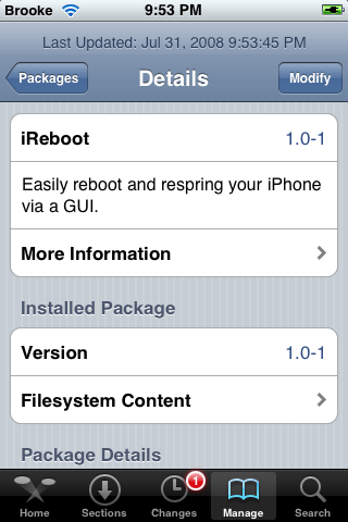 Restart/Respring apps available in Cydia
