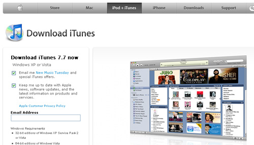 iTunes 7.7 Available for Windows