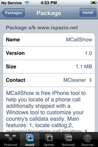 MCallShow 1.0