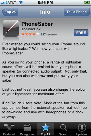 PhoneSaber 1.0