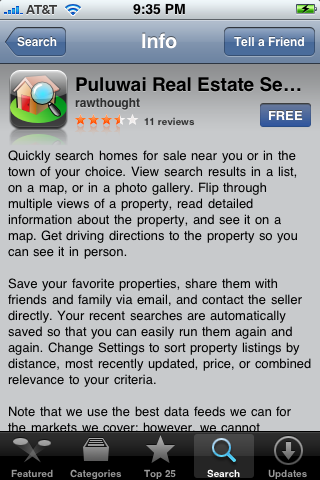 Puluwai Real Estate Search 1.0
