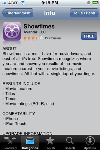 Showtimes 1.0
