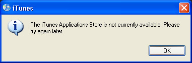 Application Store not available